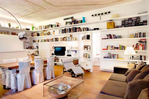 L'Idea del Mese: La Libreria con Porte a Bilico che fa Entrare la Luce