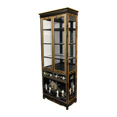 Asian Lighted China Cabinet China Cabinets & Hutches: Find ...