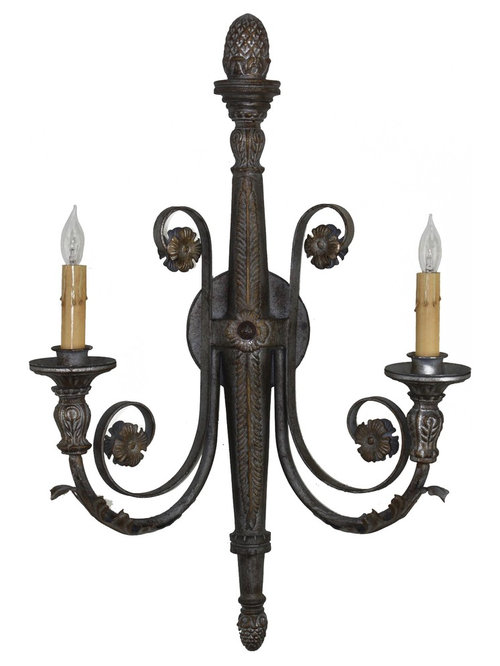 Custom Metal Wall Sconces : Custom Hand Made Iron Sconces