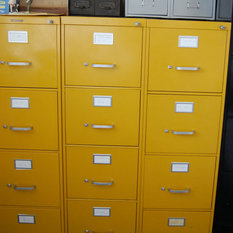 Shop Vintage Stripped Metal Filing Cabinet Products on Houzz