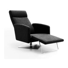Vig furniture abbot modern fabric reclining lounge chair for Ariel chaise lounge
