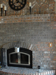 We are looking for any ideas on how to resurface the brick fireplace, bring it up to date. We're ...