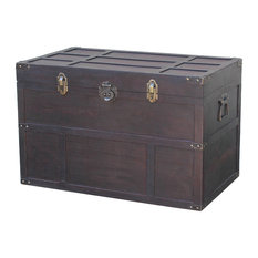 Vintiquewise Old Cedar Style Large Chest Decorative Trunks