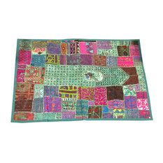 Mogul interior - Consigned Sari Tapestry Hand Embroidered Patchwork Wall Hanging - Sari tapestries are handmade from embroidered saris and Zardozi patches and are beautifully exotic creations.