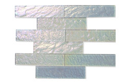 "2""x8"" Neve Winterscape Glass Tile, Set of 9"