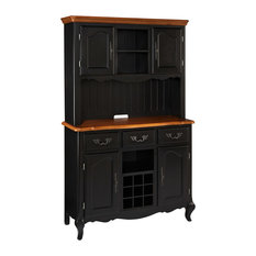 Home Styles - The French Countryside Oak and Rubbed Black Buffet and Hutch - Home Styles French ...