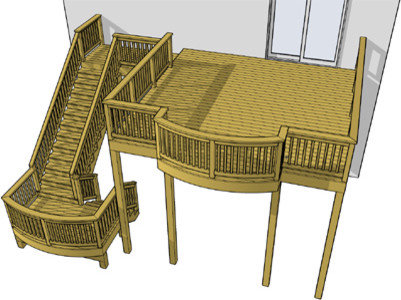 Deck plans free to download for Free elevated deck plans