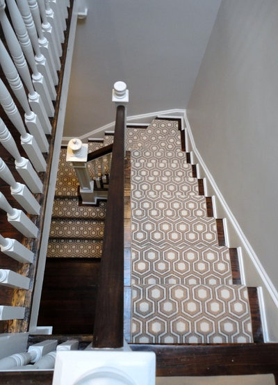 Transitional Staircase by Zoe Feldman Design, Inc.