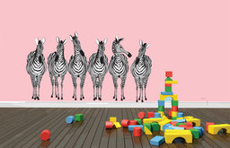 Row of Zebras Wall Decal by Design With Vinyl