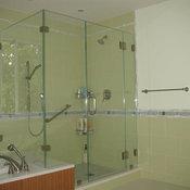 Corner Frameless Glass Shower Enclosures