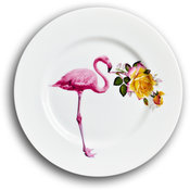 Flamingo and Peace Rose Side Plate