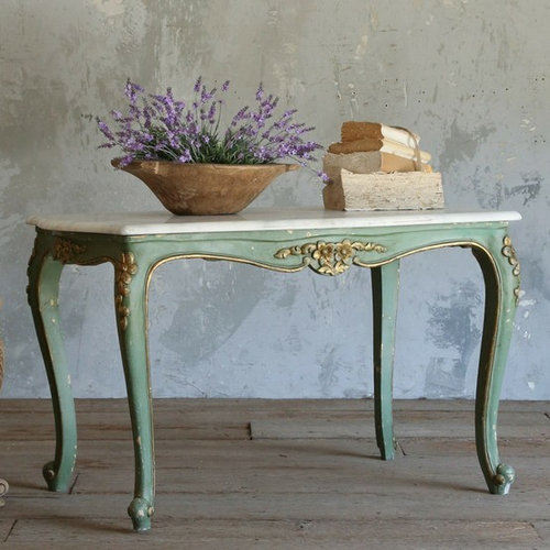 French Country Distressed Coffee Table: Eloquence Collection