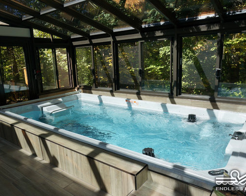 Endless pool swim spa series for Inground pool greenhouse
