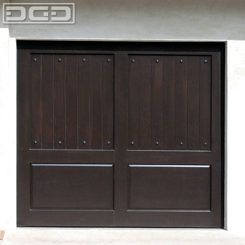 Rancho palos verdes custom garage doors in eco friendly for Composite wood garage doors