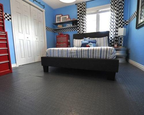 Car garage theme boy bedroom for Garage themed bedroom ideas