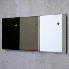 moderne briefk sten standbriefkasten zaunbriefkasten. Black Bedroom Furniture Sets. Home Design Ideas