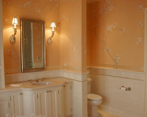Peach bathroom home design ideas pictures remodel and decor for Peach bathroom accessories
