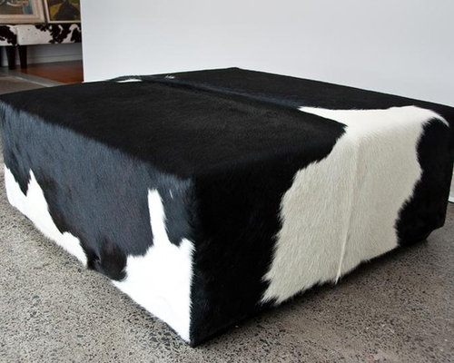 Cowhide Amp Leather Ottomans