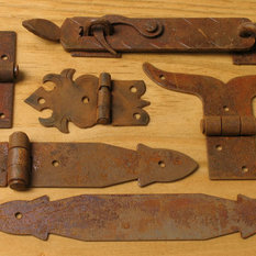 Rustic Wrought Hinges, Straps, Corner Brackets & Latches - Utilize these pieces to create an ...