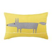 Scion Mr. Fox Cushion, Grey/Yellow