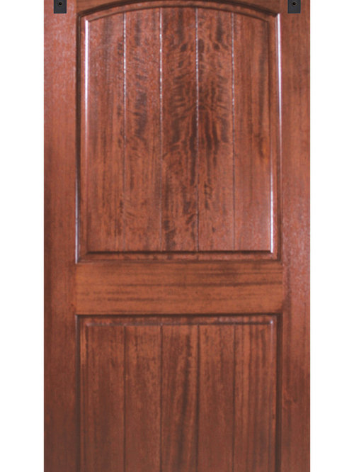 Interior mahogany barn doors for Mahogany interior doors