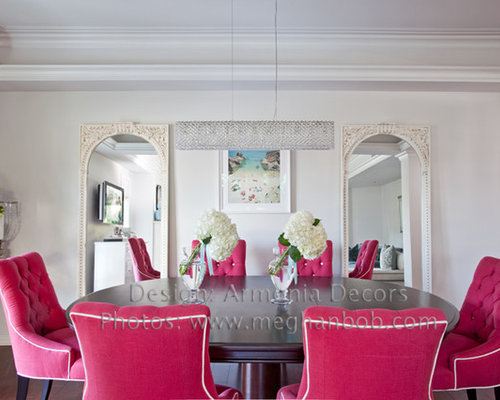 Plush dining chairs home design ideas pictures remodel and decor - Plush dining room chairs ...