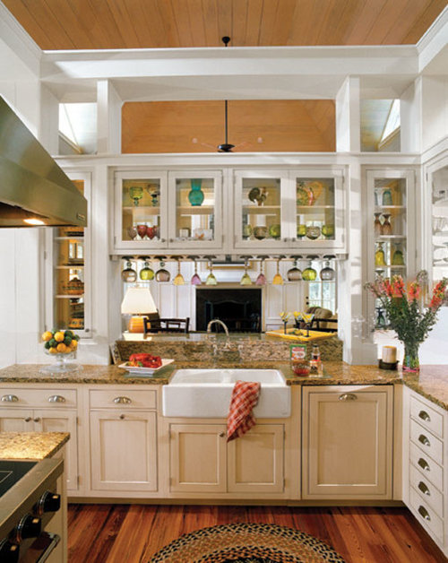 Pass Through Kitchen With Cabinets On Both Sides