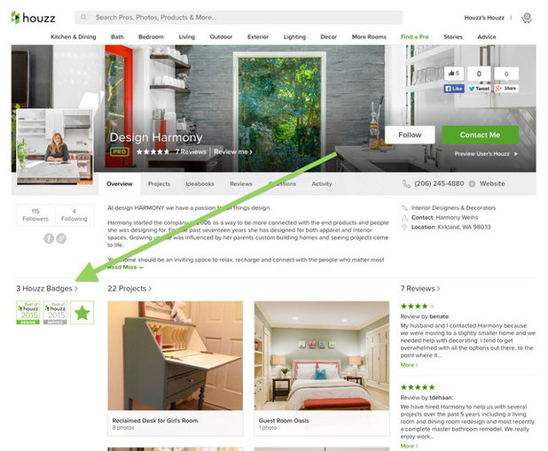 The 2015 best of houzz badges have arrived for Professional home design 7 0