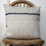 Simplicity Embroidered Linen Cushion Cover