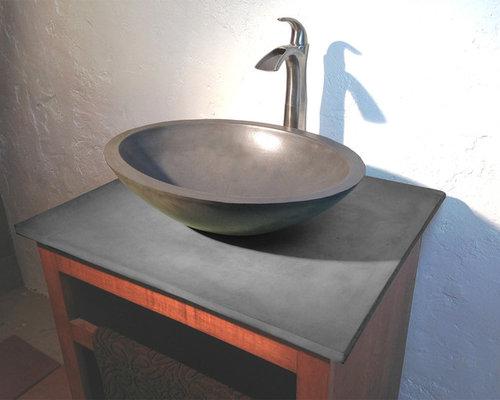 Concrete Vessel Sink Home Design Ideas Pictures Remodel And Decor