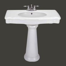 Mirabelle Pedestal Sinks : Transitional Bathroom Sinks by The Renovators Supply, Inc.