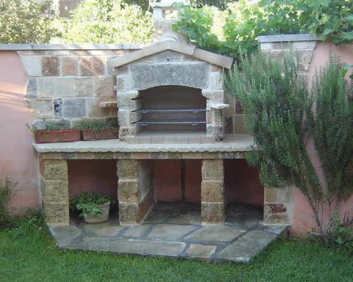 Grills bbq stone pizza ovens out of antique limestone - Barbecue da giardino in pietra ...
