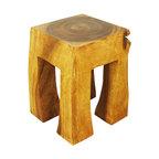 Custom Made Wood Stump Stools Bar Stools And Counter