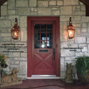 Sheryl's French Gas Lanterns with Glass Tops and Window Scrolls