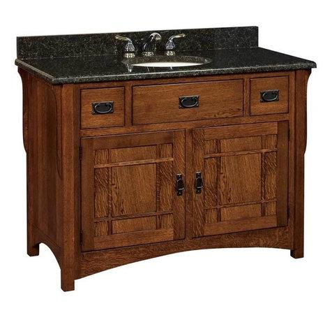 craftsman arts and crafts bathroom vanities houzz