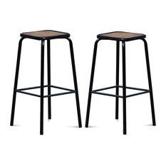 chaises et tabourets de bar industriels. Black Bedroom Furniture Sets. Home Design Ideas