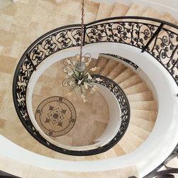 other metro tile spiral staircase design ideas remodels. Black Bedroom Furniture Sets. Home Design Ideas