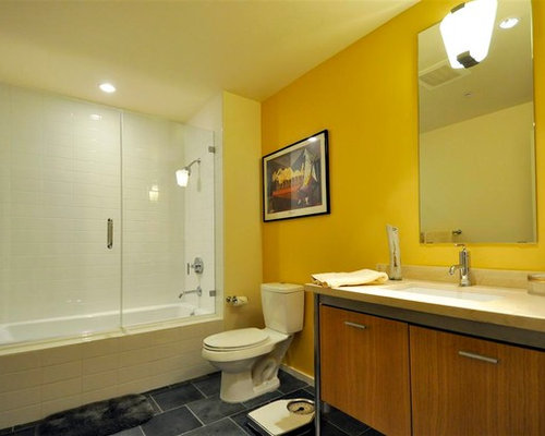 Bathroom Decor With Yellow Walls : Midcentury bathroom design ideas renovations photos