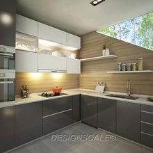 Semi-Detached Modern Kitchen