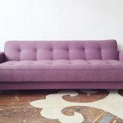 Midcentury Sofa,  Maxwell Fabric's Gig Harbor Tulip Fabric