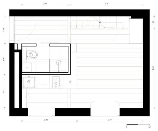 Grundriss Neuer Grundriss Mini-Wohnung in Moabit
