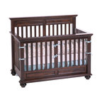Sugar Crib In Vintage Grey Traditional Cribs Other Metro By Baby S Dream Furniture