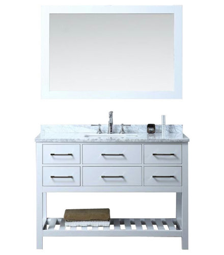 ... hardware and solid wood framed mirror. Cabinet, doors and drawers are