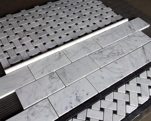 Carrara bianco marble mosaic and tile for Carrara marble per square foot
