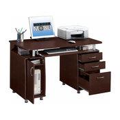 Techni Mobili Complete Workstation Computer Desk With Storage, Chocolate