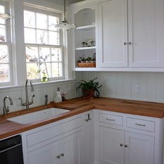 Reclaimed White Oak Wood Tops are Perfect for Historic Home - Kitchen ...