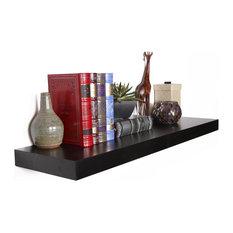 "Welland - Chicago Floating Shelf, 60"", Black - Chicago Floating Shelf is an impressively ..."
