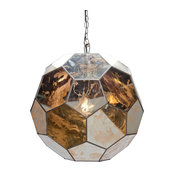 Antique-Style Mirror Faceted Ball Pendant, Small