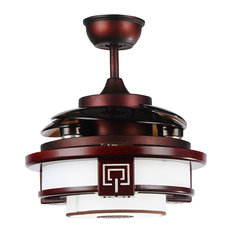 Parrotuncle 42 5 Quot Quaint Chrome Rosewood Led Ceiling Fan