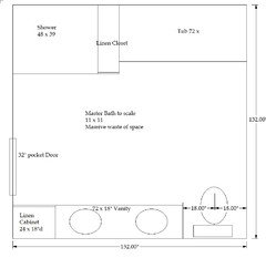 Master Bathroom layout 11'x11' thoughts please!